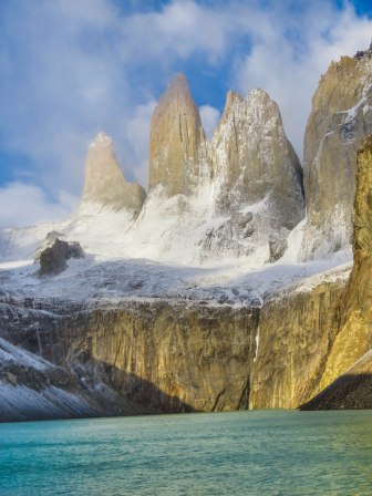 Chile - Patagonia: The famous rock formation in the Torres del Paine national park