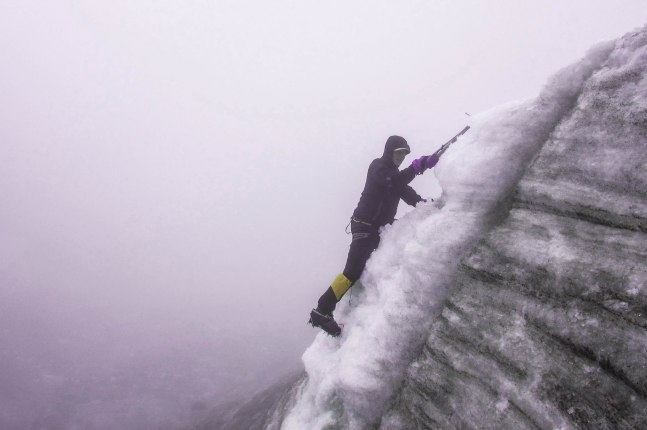 Huayna Potosi - Me during the ice climbing training one day before the ascent of the 6088m mountain.