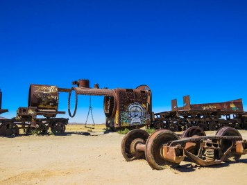 Uyuni - Thetrain cemetery. English and French steam trains that were used for mining purposes.