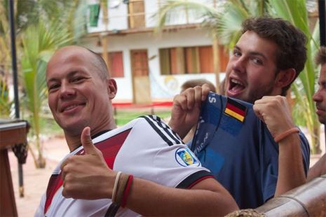 Mancora - Cheering for the German Mannschaft (photo by S. Kane)
