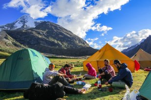 Huaraz - Second Camp during the Santa Cruz Trek