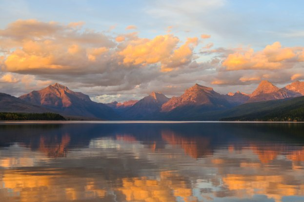 Montana - Sunset over Lake McDonald in Glacier National Park.