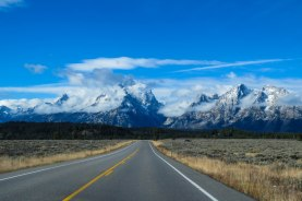 Wyoming - On the way to the Great Teton Range in Teton National Park.