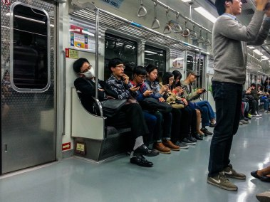 Korea - People in Seoul love their smartphones...